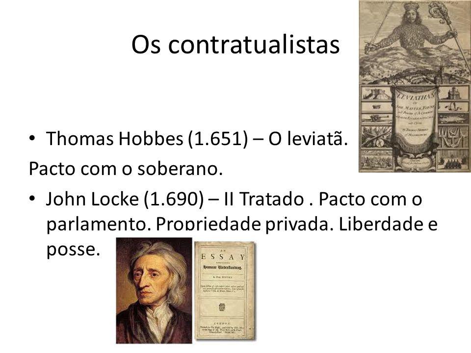 Montesquieu (1.748) – O Espírito das Leis.