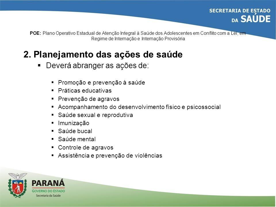 POE: Plano Operativo Estadual de Atenção Integral à Saúde dos Adolescentes em Conflito com a Lei, em Regime de Internação e Internação Provisória 2. P