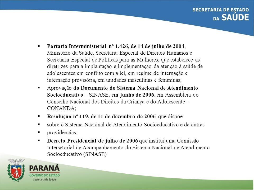  Portaria Interministerial nº 1.426, de 14 de julho de 2004, Ministério da Saúde, Secretaria Especial de Direitos Humanos e Secretaria Especial de Po