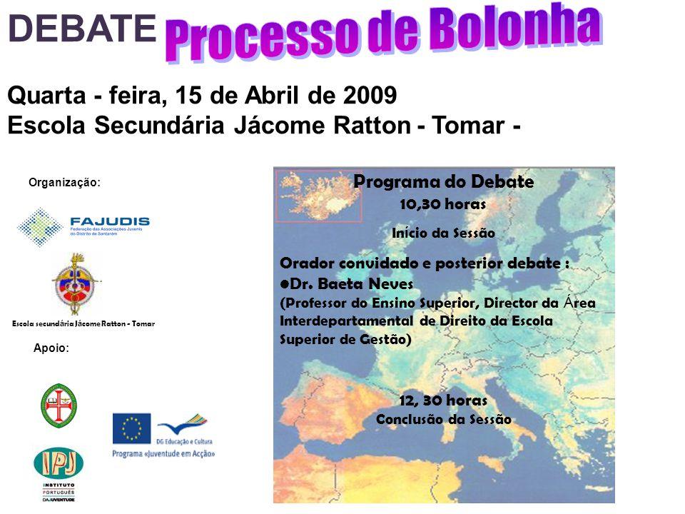 Organização: Apoio: Programa do Debate 10,30 horas In í cio da Sessão Orador convidado e posterior debate : Dr.