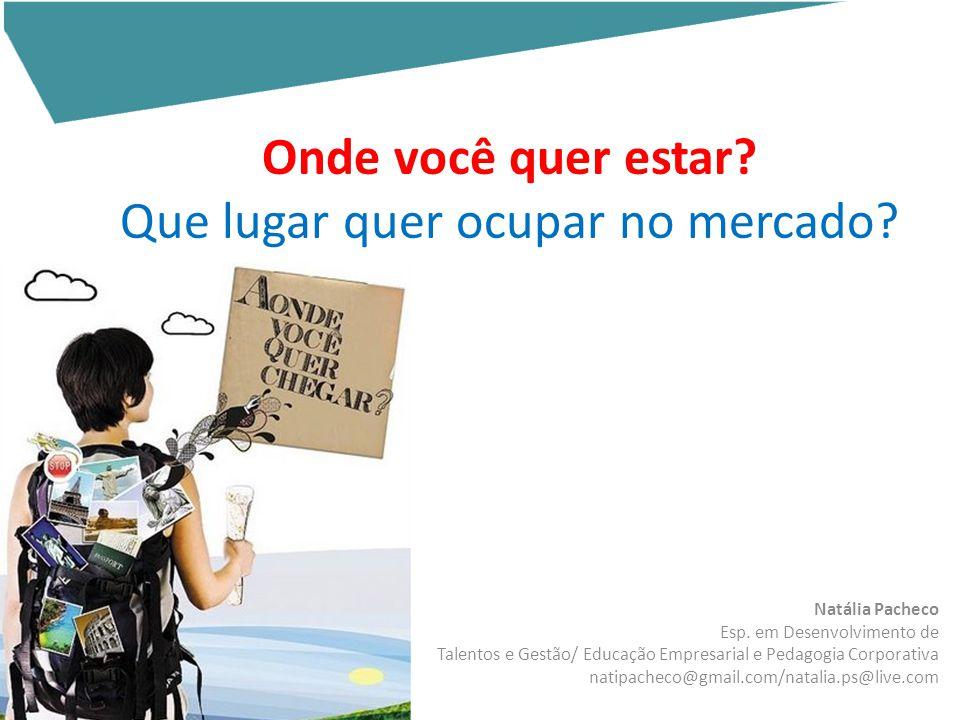 Natália Pacheco Esp. em Desenvolvimento de Talentos e Gestão/ Educação Empresarial e Pedagogia Corporativa natipacheco@gmail.com/natalia.ps@live.com O