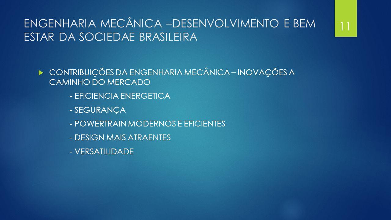 ENGENHARIA MECÂNICA –DESENVOLVIMENTO E BEM ESTAR DA SOCIEDAE BRASILEIRA  CONTRIBUIÇÕES DA ENGENHARIA MECÂNICA – INOVAÇÕES A CAMINHO DO MERCADO - EFIC