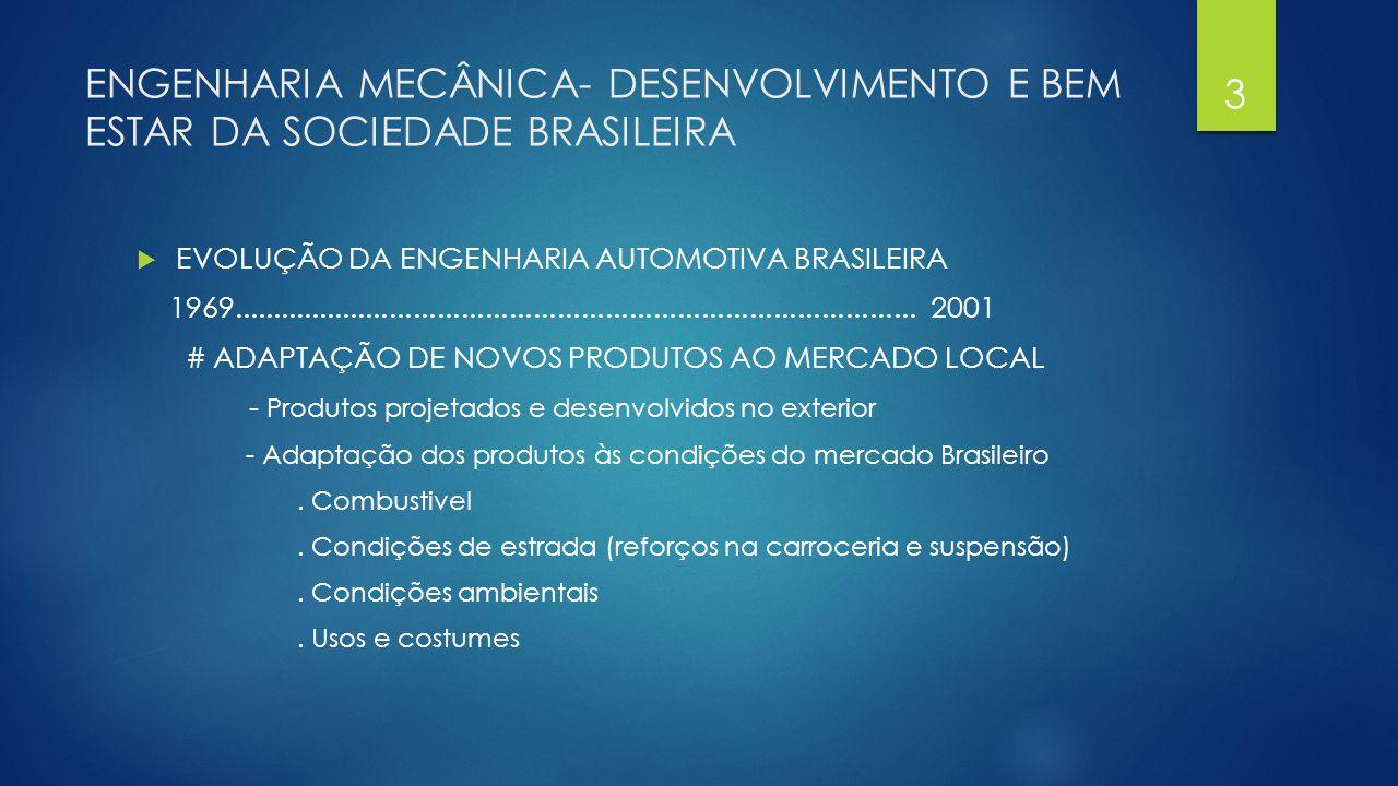 ENGENHARIA MECÂNICA- DESENVOLVIMENTO E BEM ESTAR DA SOCIEDADE BRASILEIRA  EVOLUÇÃO DA ENGENHARIA AUTOMOTIVA BRASILEIRA 1969..........................
