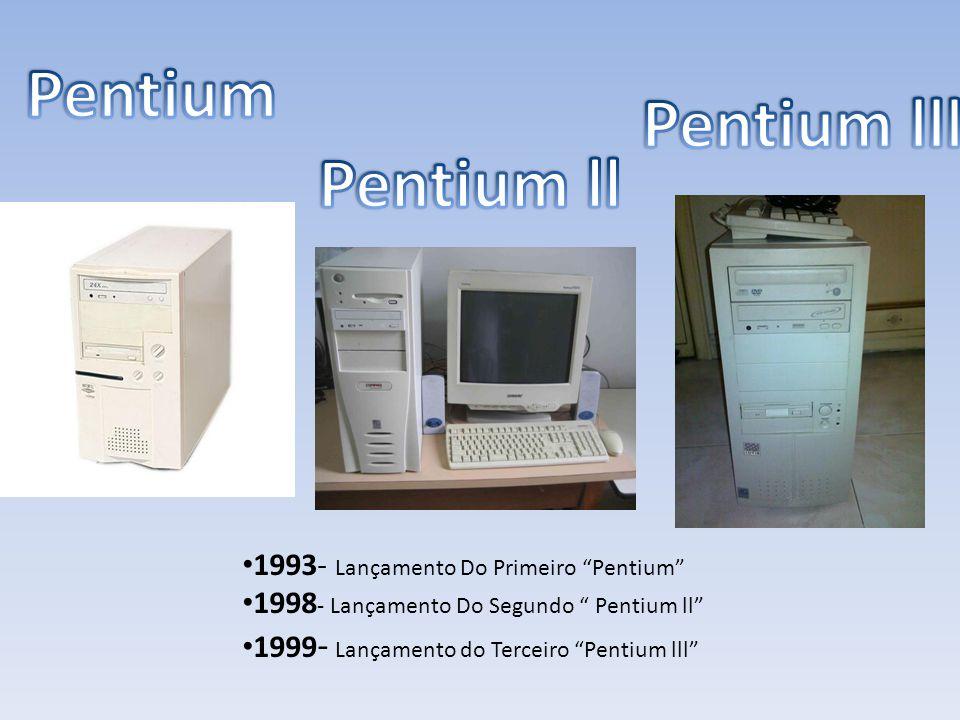 """1993- Lançamento Do Primeiro """"Pentium"""" 1998 - Lançamento Do Segundo """" Pentium ll"""" 1999 - Lançamento do Terceiro """"Pentium lll"""""""