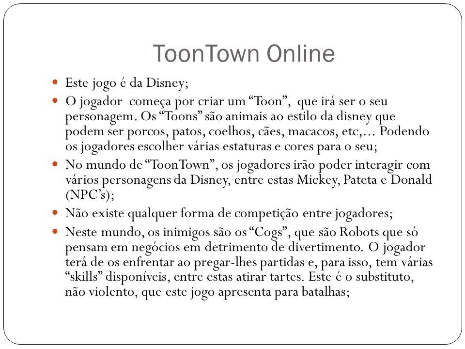 Este jogo é da Disney; O jogador começa por criar um Toon , que irá ser o seu personagem.