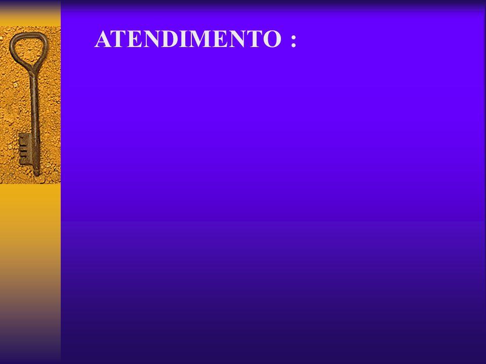 ATENDIMENTO :