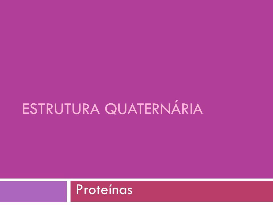 ESTRUTURA QUATERNÁRIA Proteínas