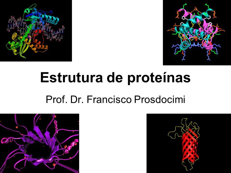 Estrutura de proteínas Prof. Dr. Francisco Prosdocimi