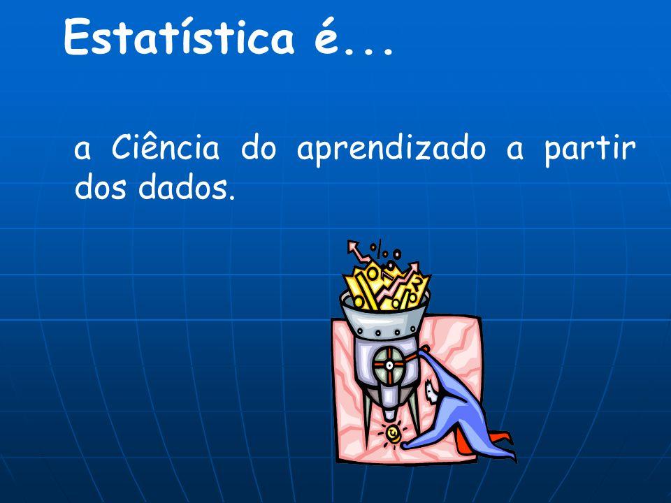 Estatística é... a Ciência do aprendizado a partir dos dados.