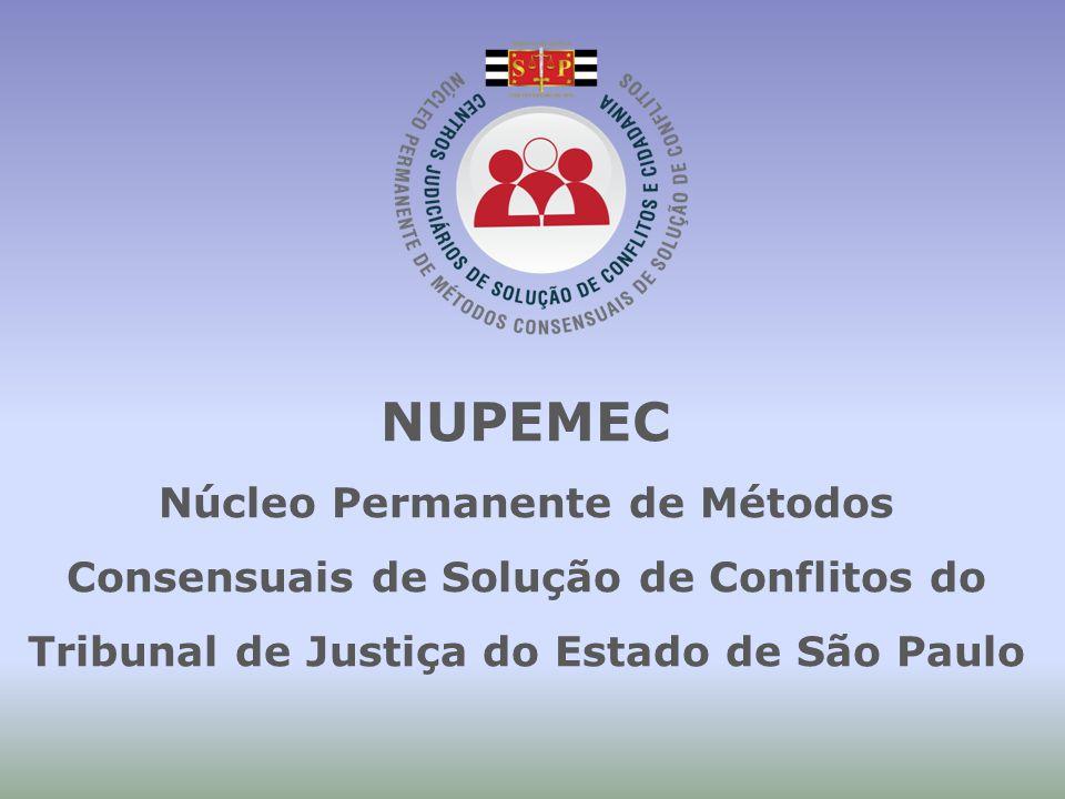NUPEMEC Núcleo Permanente de Métodos Consensuais de Solução de Conflitos do Tribunal de Justiça do Estado de São Paulo