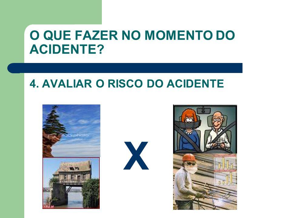 O QUE FAZER NO MOMENTO DO ACIDENTE? 4. AVALIAR O RISCO DO ACIDENTE X