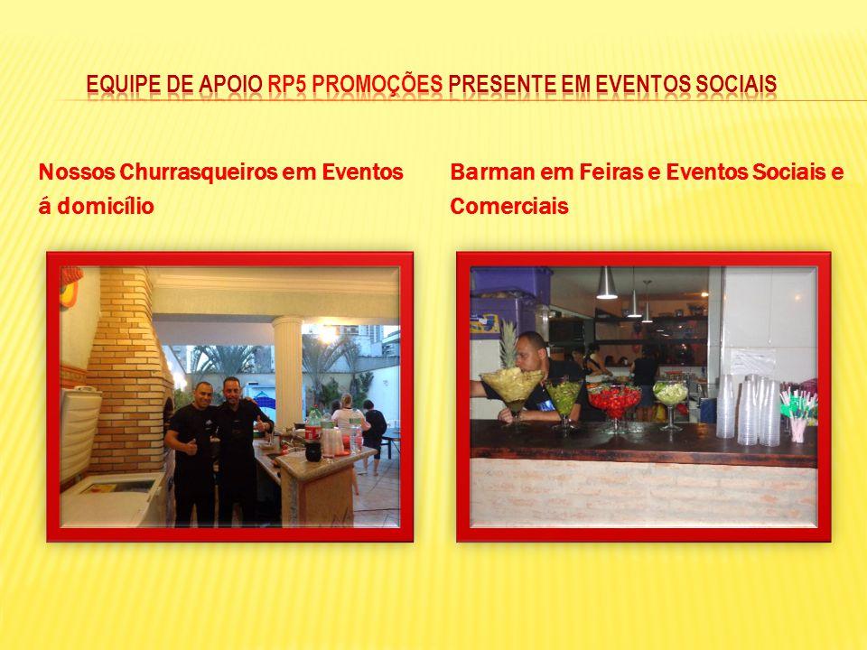 Nossos Churrasqueiros em Eventos á domicílio Barman em Feiras e Eventos Sociais e Comerciais