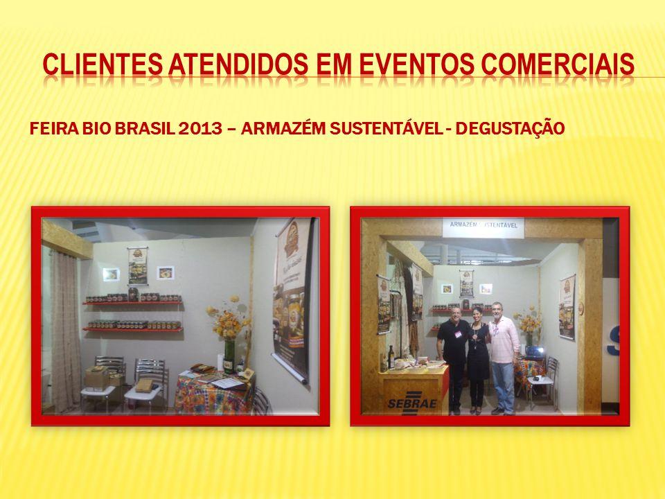 FEIRA BIO BRASIL 2013 – ARMAZÉM SUSTENTÁVEL - DEGUSTAÇÃO