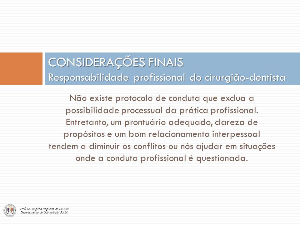 Não existe protocolo de conduta que exclua a possibilidade processual da prática profissional. Entretanto, um prontuário adequado, clareza de propósit