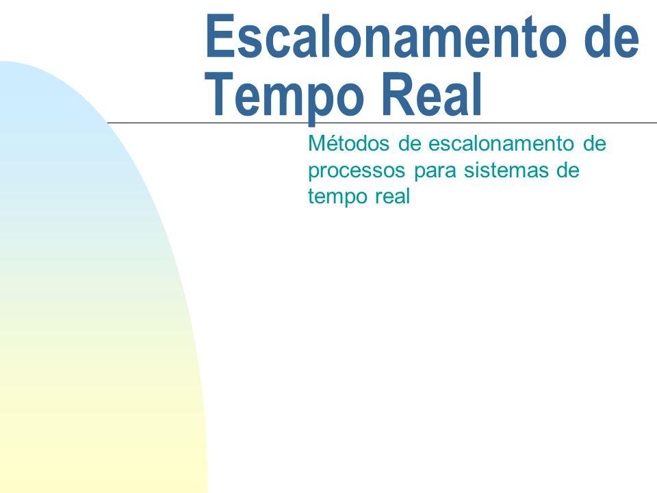 Escalonamento de Tempo Real Métodos de escalonamento de processos para sistemas de tempo real