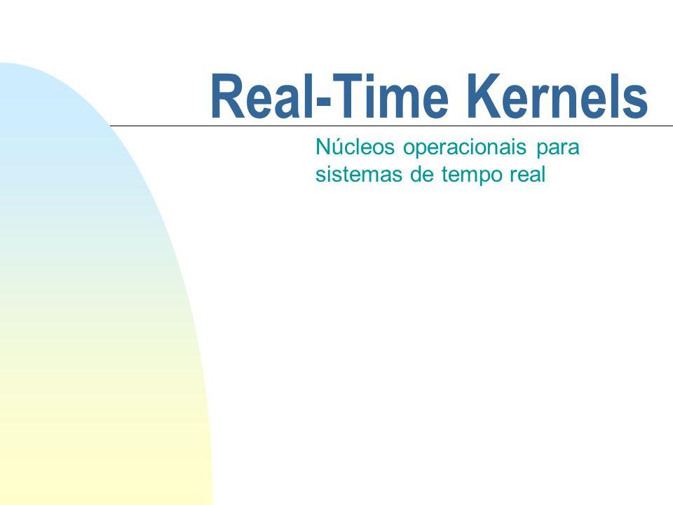 Real-Time Kernels Núcleos operacionais para sistemas de tempo real