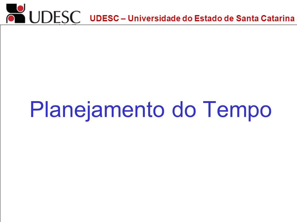 UDESC – Universidade do Estado de Santa Catarina DEPS – Departamento de Engenharia de Produção e Sistemas Planejamento do Tempo