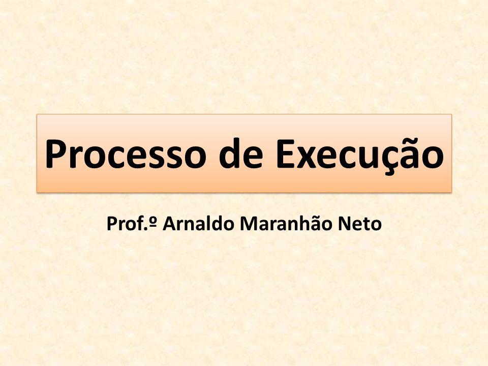 Processo de Execução Prof.º Arnaldo Maranhão Neto