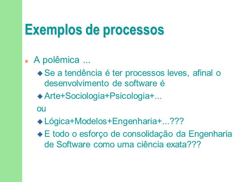 Exemplos de processos n A polêmica...