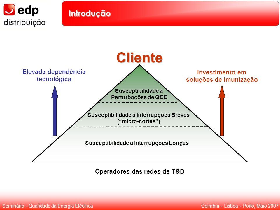 Coimbra – Lisboa – Porto, Maio 2007Seminário – Qualidade da Energia Eléctrica Introdução Susceptibilidade a Interrupções Longas Susceptibilidade a Int