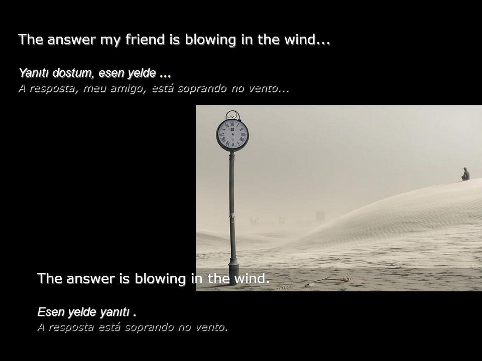 The answer my friend is blowing in the wind...Yanıtı dostum, esen yelde...