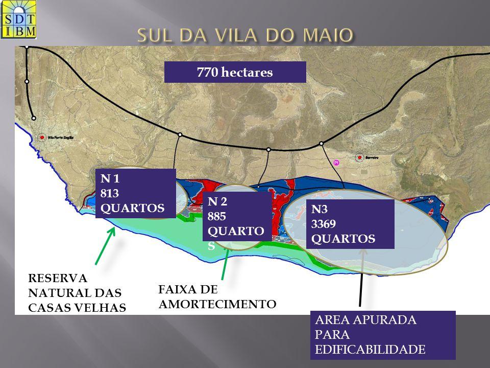 RESERVA NATURAL DAS CASAS VELHAS FAIXA DE AMORTECIMENTO AREA APURADA PARA EDIFICABILIDADE N 1 813 QUARTOS N 2 885 QUARTO S N3 3369 QUARTOS 770 hectare