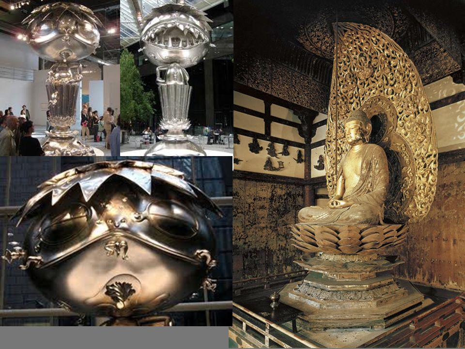 Artist: Jocho Title: Amida Buddha Medium: Gold leaf and lacquer on wood Size: height 9 8 (2.95 m) Date: Heian period, c.