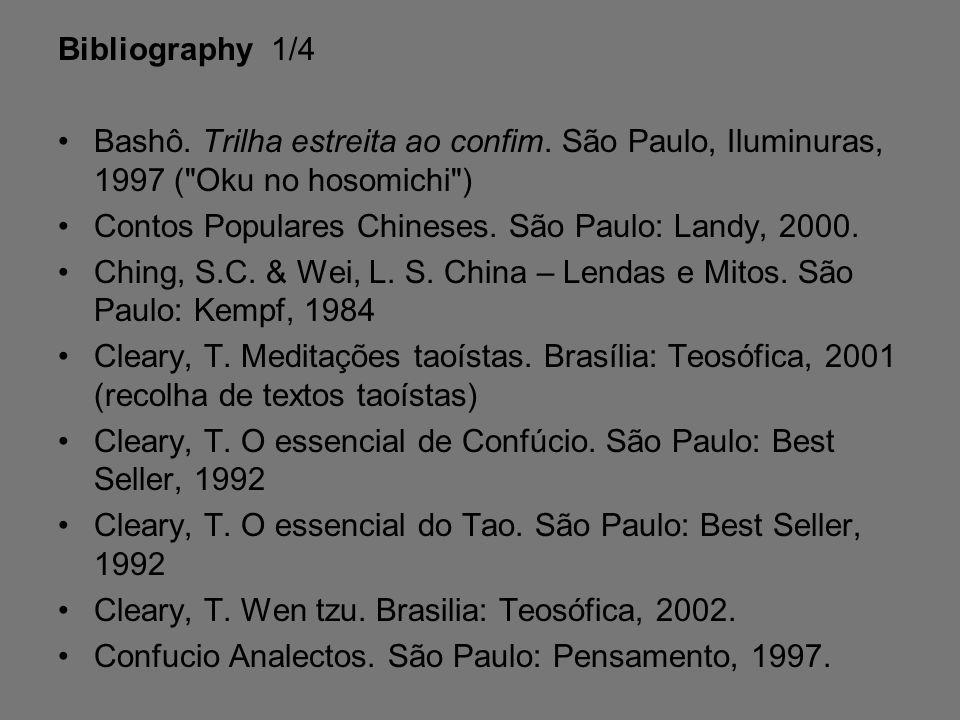 Bibliography 1/4 Bashô.Trilha estreita ao confim.