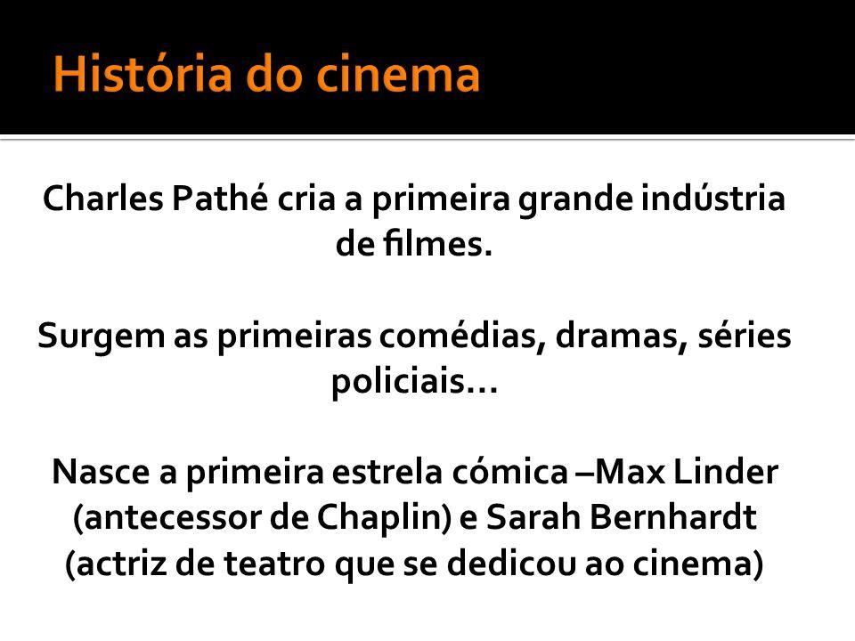 Charles Pathé cria a primeira grande indústria de filmes.
