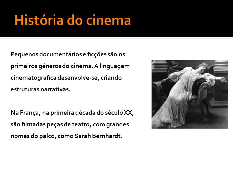 Pequenos documentários e ficções são os primeiros géneros do cinema.