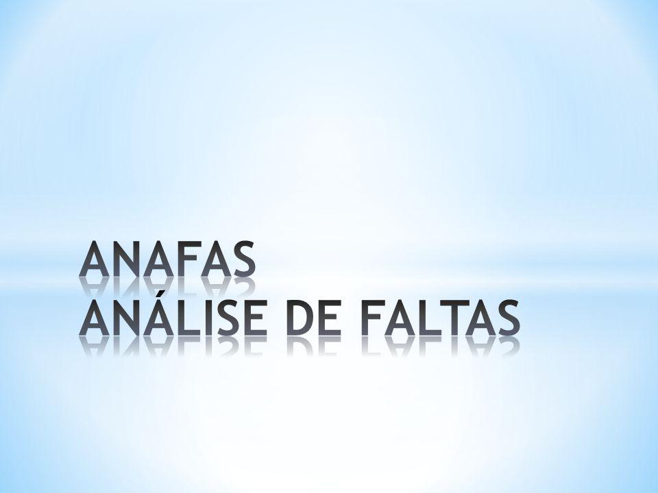 Capacitor /reator shunt (ligados a uma barra); Carga (impedância constante); Essa classificação pode ser definida pelo usuário ou pelo ANAFAS O programa também permite a especificação da base da potência trifásica (MVA) do sistema, e a especificação da tensão-base dos diversos subsistemas Com relação à eventuais erros, eles são classificados em: avisos – se refere a situações que podem ser resolvidas pelo ANAFAS; erros – invalidam a modelagem do sistema;