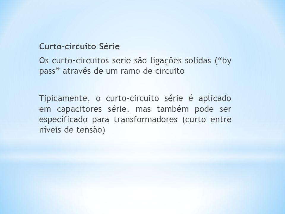 """Curto-circuito Série Os curto-circuitos serie são ligações solidas (""""by pass"""" através de um ramo de circuito Tipicamente, o curto-circuito série é apl"""