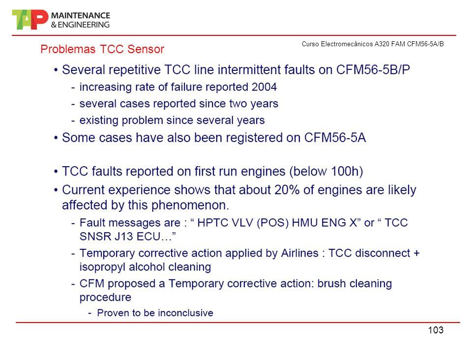 Curso Electromecânicos A320 FAM CFM56-5A/B 103 Problemas TCC Sensor