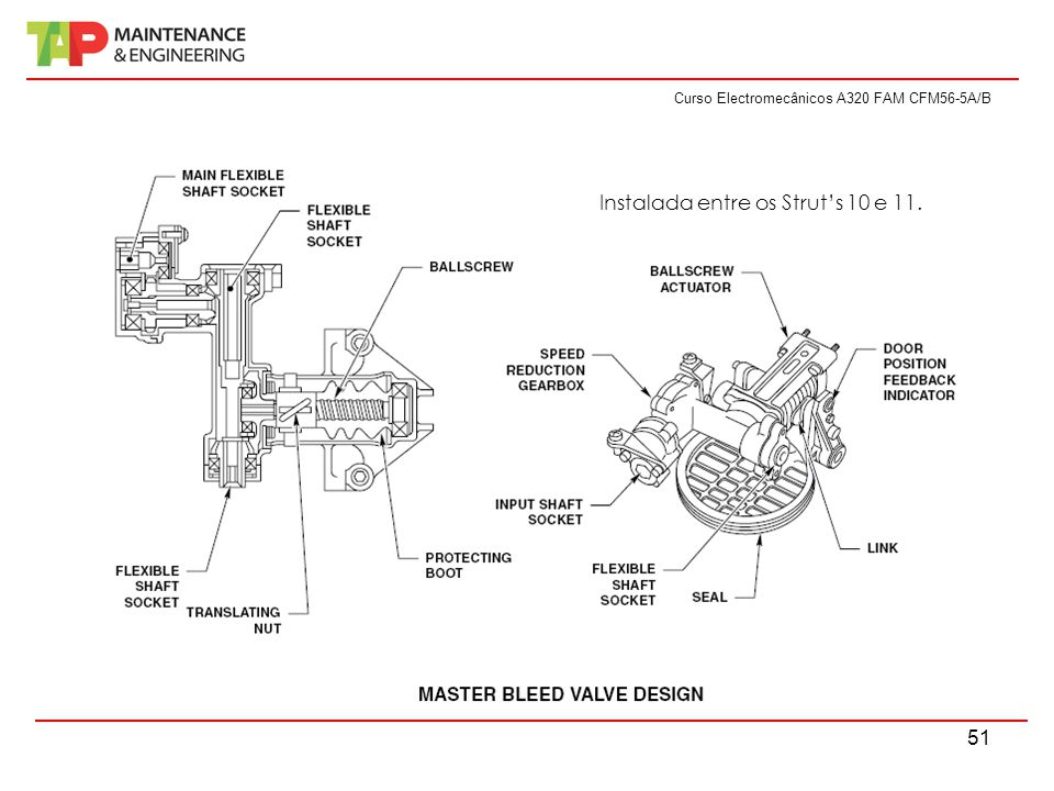 Curso Electromecânicos A320 FAM CFM56-5A/B 51 Instalada entre os Strut's 10 e 11.