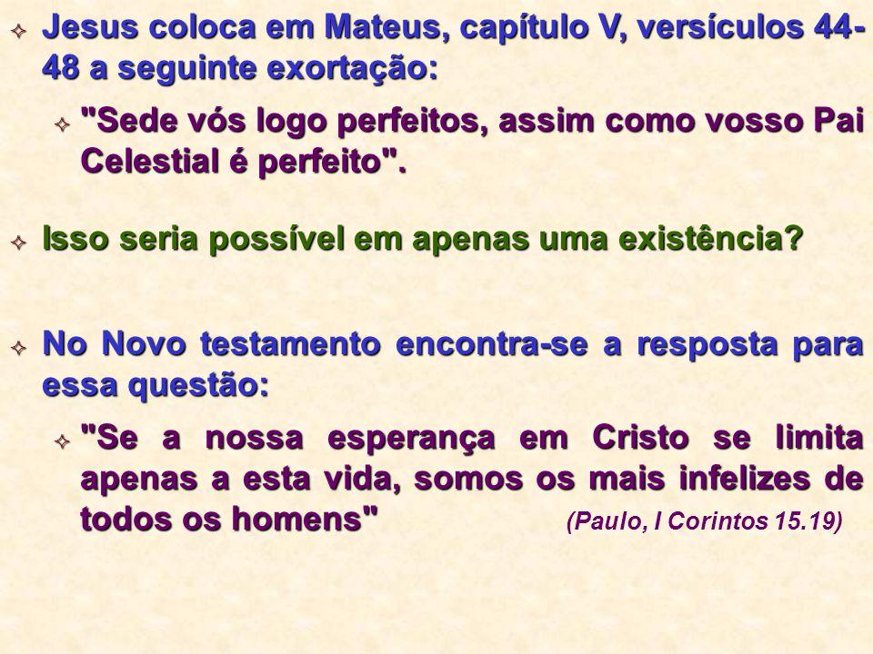  Jesus coloca em Mateus, capítulo V, versículos 44- 48 a seguinte exortação: 