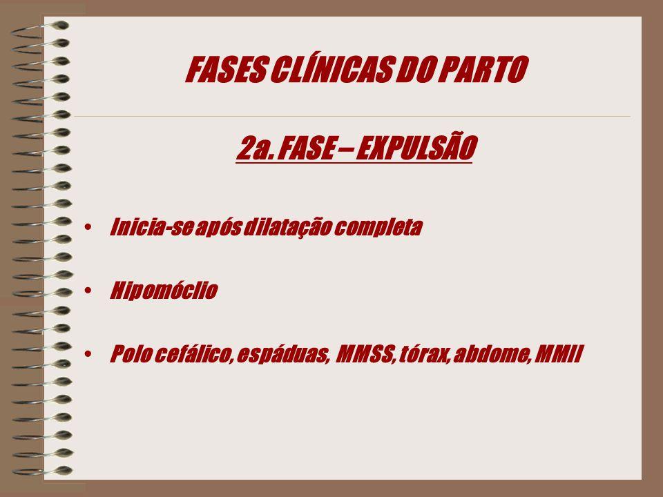 FASES CLÍNICAS DO PARTO 2a.