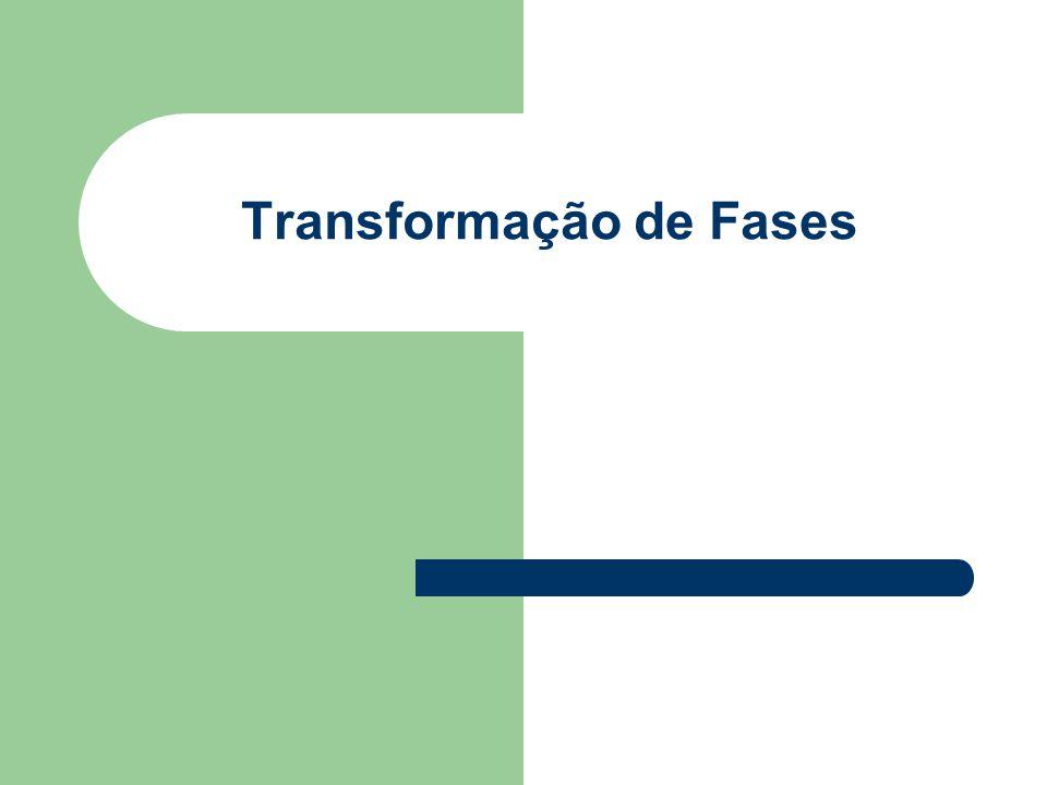 Transformação de fase é a alteração no números de fases e/ou na natureza da fase que envolve alguma alteração na microestrutura