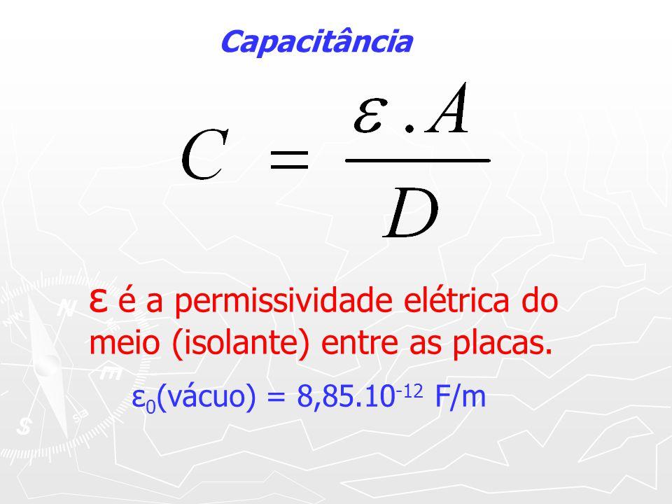 Rigidez e constantes dielétricas Rigidez e constantes dielétricas MaterialRigidez (kv/cm)Constante (k) Ar 30 1 Vidro 75-300 3,8 Ebonite270-400 2,8 Mica600-750 5,4-8,7 Borracha Pura 330 3 Óxido de alumínio - 8,4 Pentóxido de Tantalo - 26 Cera de abelha 1100 3,7 Parafina 600 3,5
