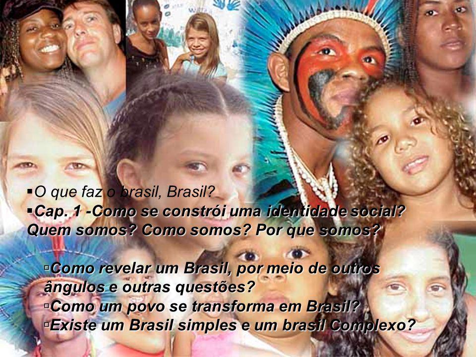  O que faz o brasil, Brasil?  Cap. 1 -Como se constrói uma identidade social? Quem somos? Como somos? Por que somos?  Como revelar um Brasil, por m