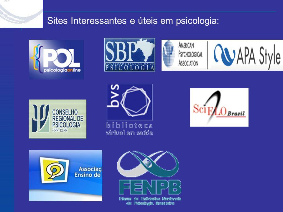 Sites Interessantes e úteis em psicologia: Site Feedback Home |Home Help |Help Log In MORE APA WEB SITES X Site Feedback Home |Home Help |Help Log In MORE APA WEB SITES X