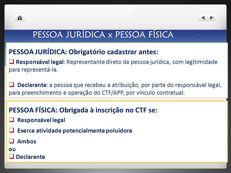 Acesse o site do IBAMA no link: http://www.ibama.gov.br SERVIÇOS: COMO SE CADASTRAR? Cadastrar a PF antes da PJ
