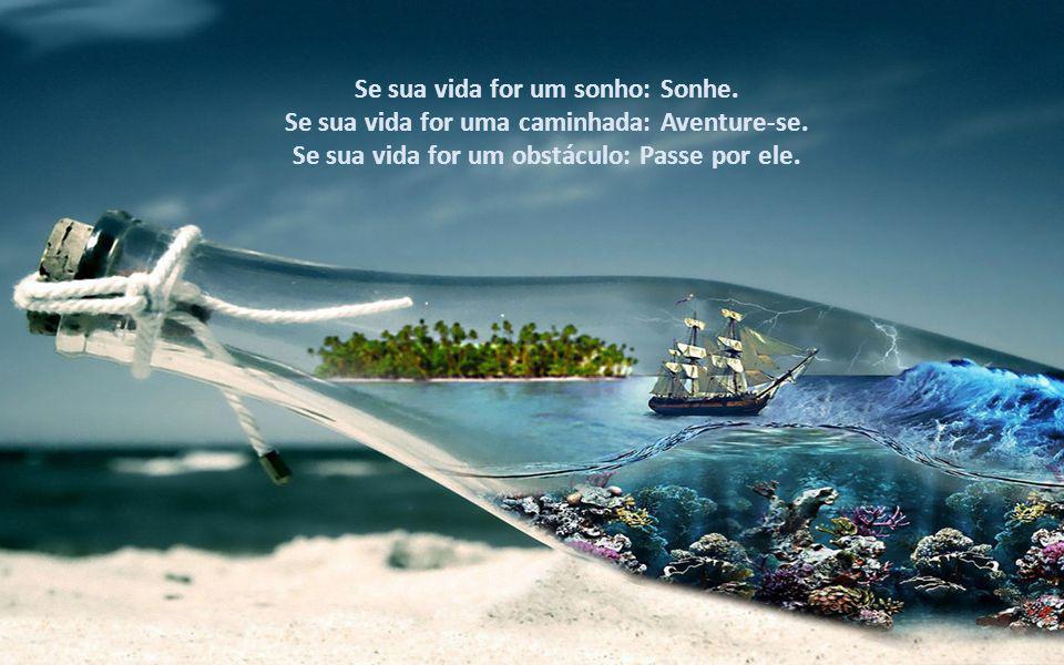 Se sua vida for um sonho: Sonhe.Se sua vida for uma caminhada: Aventure-se.
