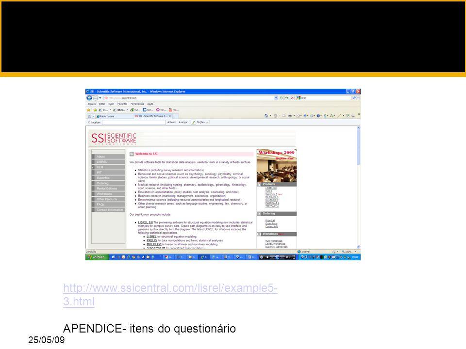25/05/09 http://www.ssicentral.com/lisrel/example5- 3.html APENDICE- itens do questionário