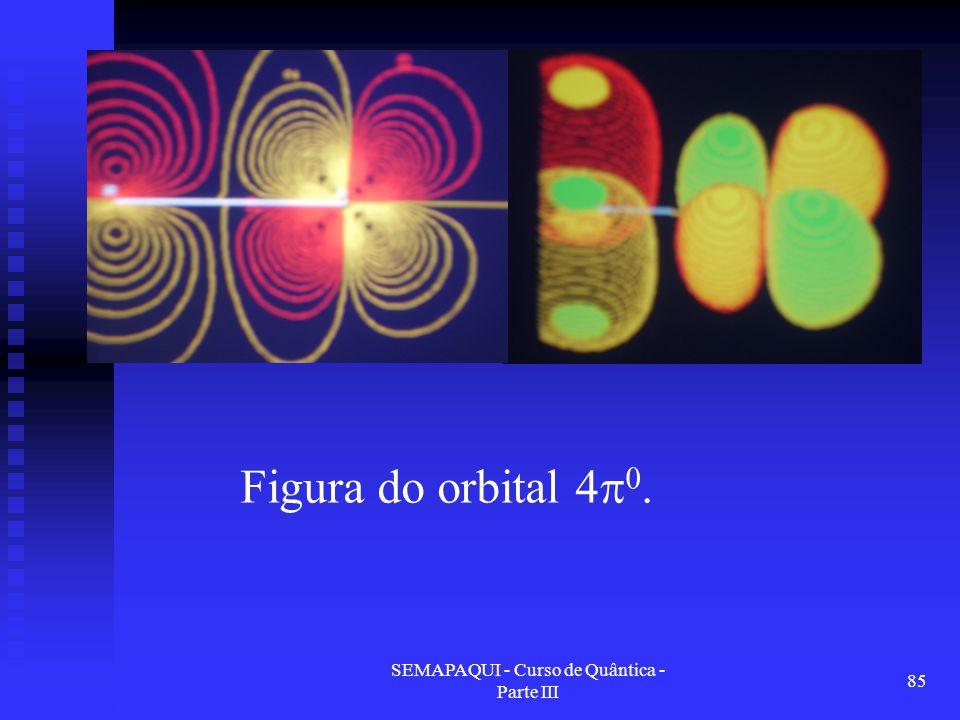 SEMAPAQUI - Curso de Quântica - Parte III 85 Figura do orbital 4  0.