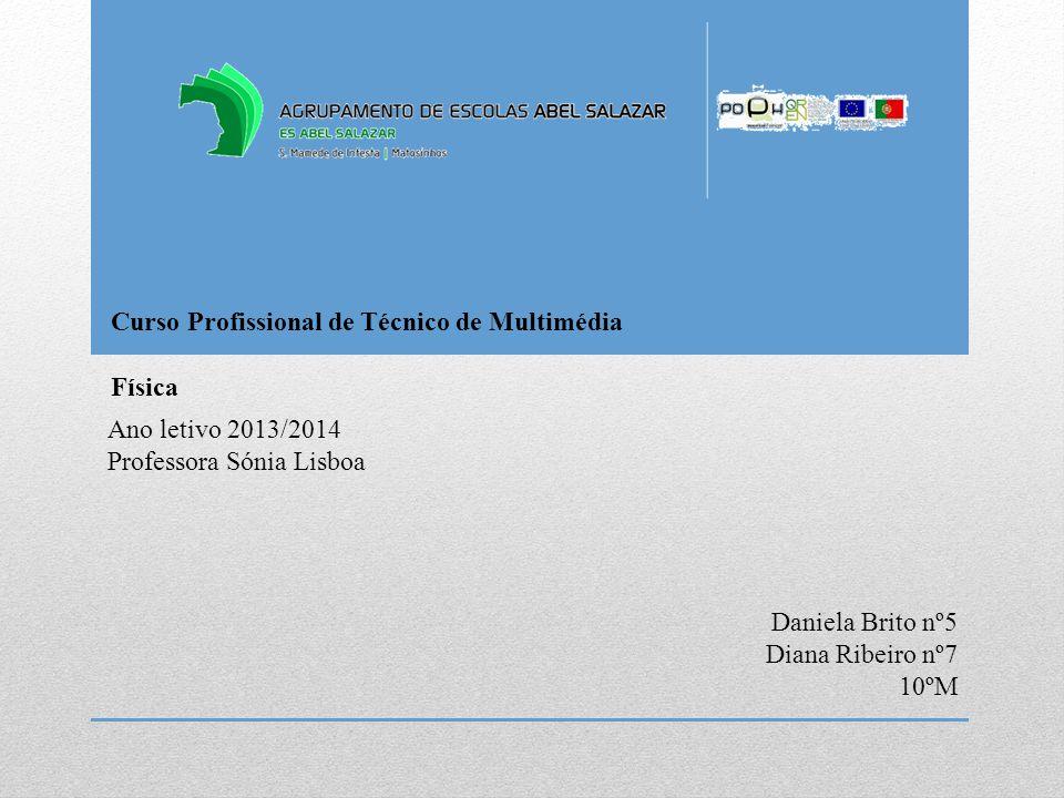 Curso Profissional de Técnico de Multimédia Ano letivo 2013/2014 Professora Sónia Lisboa Física Daniela Brito nº5 Diana Ribeiro nº7 10ºM