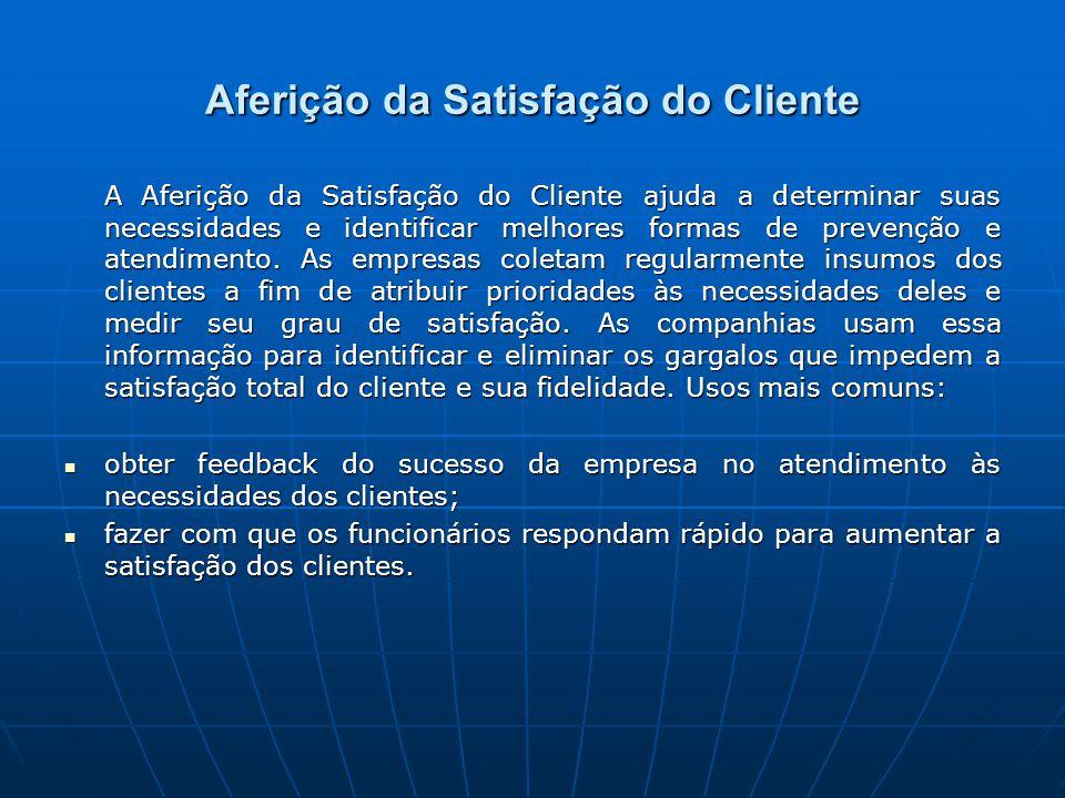 A Aferição da Satisfação do Cliente ajuda a determinar suas necessidades e identificar melhores formas de prevenção e atendimento.