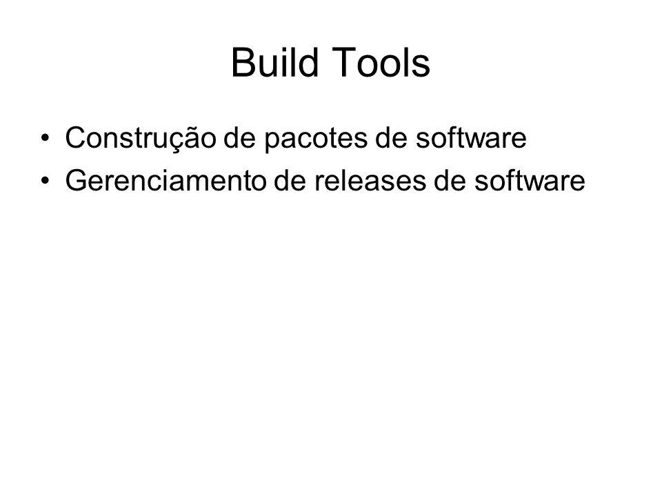 Build Tools Construção de pacotes de software Gerenciamento de releases de software