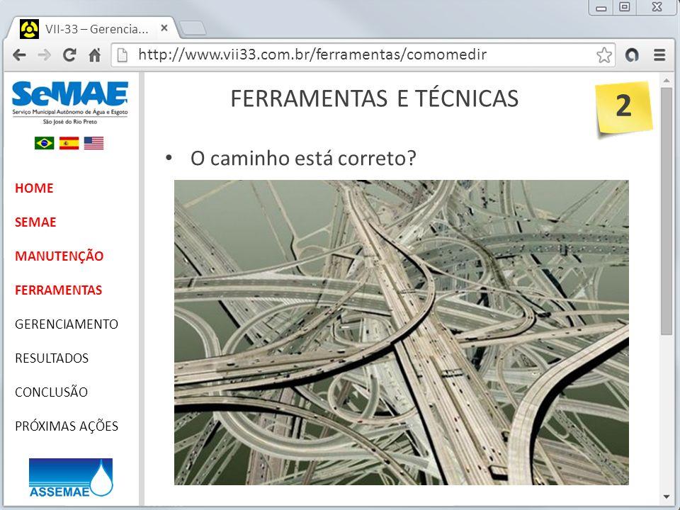 http://www.vii33.com.br/ferramentas/comomedir VII-33 – Gerencia... FERRAMENTAS E TÉCNICAS HOME SEMAE MANUTENÇÃO FERRAMENTAS GERENCIAMENTO RESULTADOS C