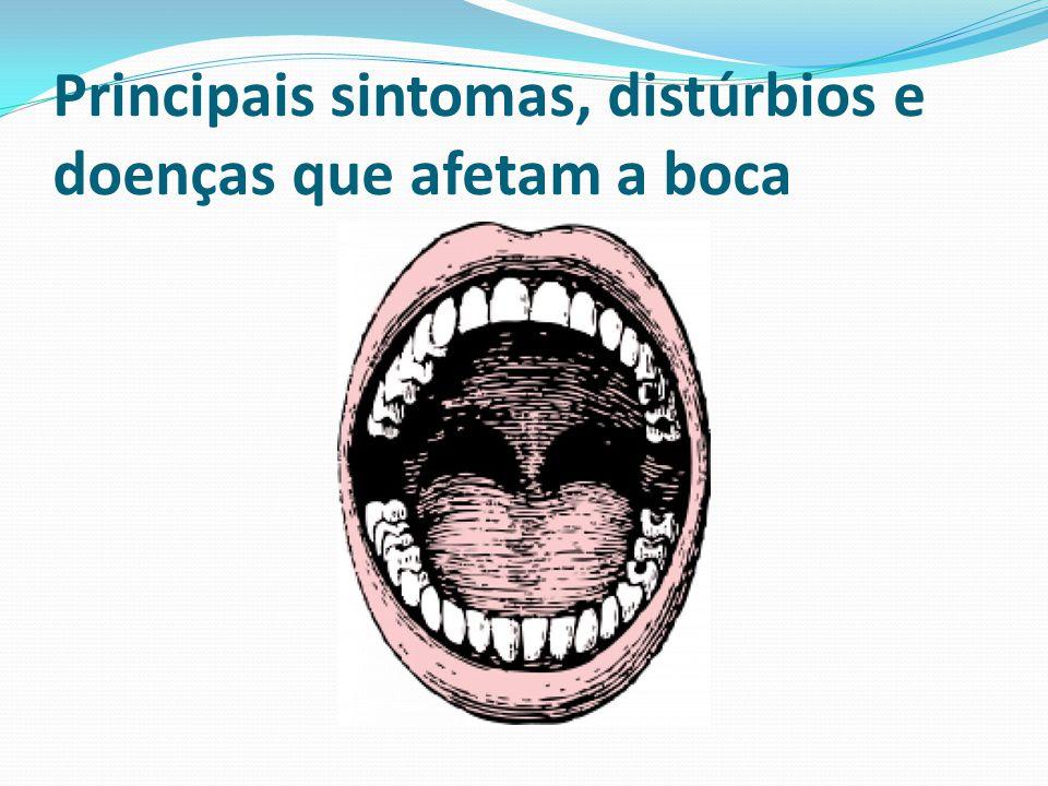 Principais sintomas, distúrbios e doenças que afetam a boca