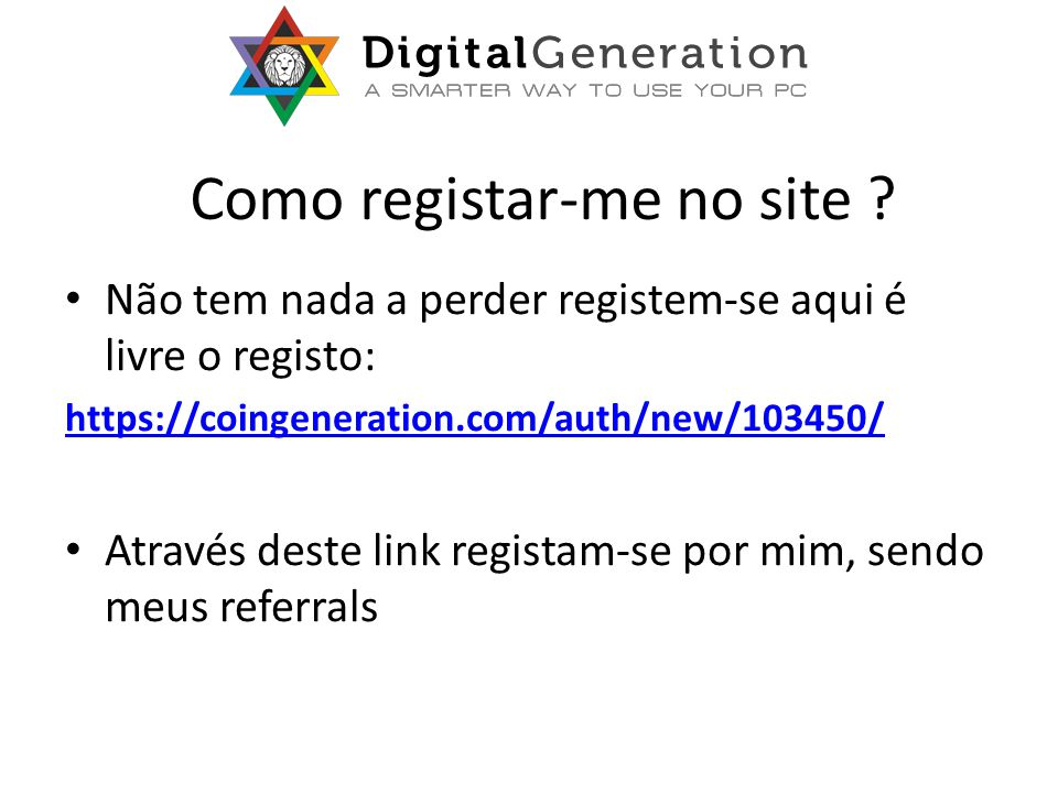 Como registar-me no site .